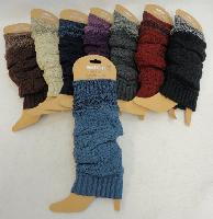 Knitted Leg Warmer [Solid w Variegated Cuff]